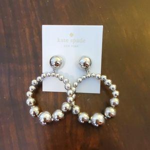 Kate Spade Silver Ball Drop earrings